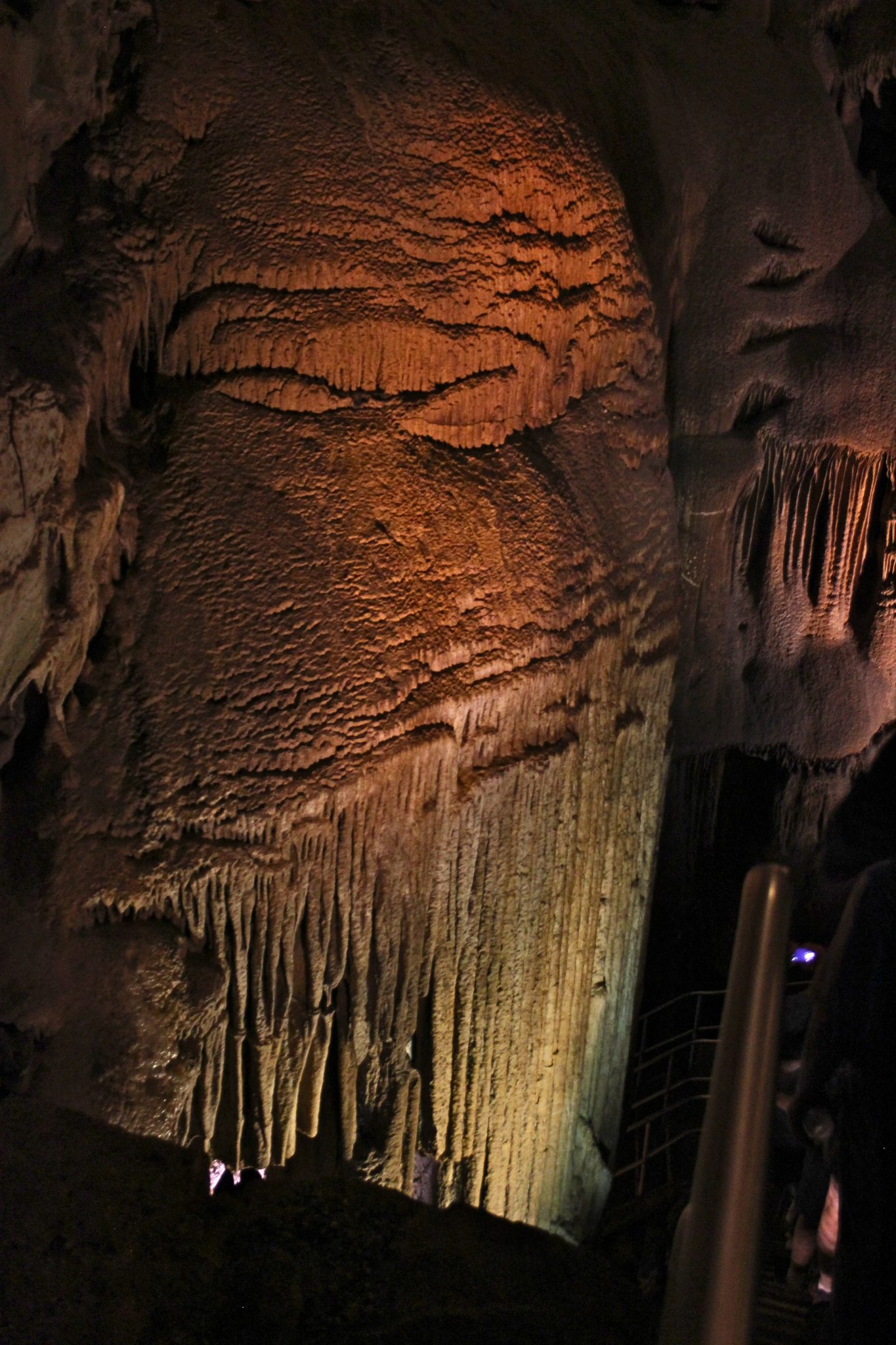The gorgeous Frozen Niagara tour in Mammoth Cave Kentucky.
