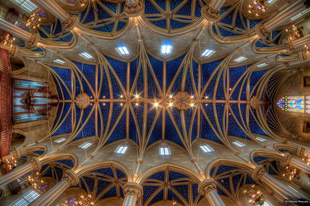 Ceiling at the Cathedral of the Assumption in Louisville Kentucky