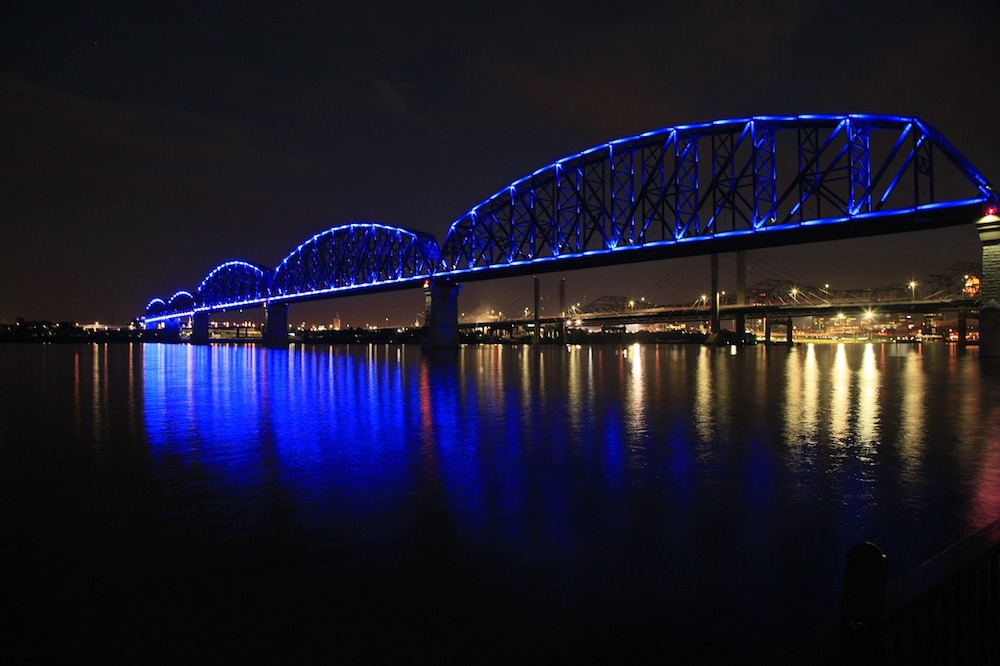 Stretch your legs on the big four bridge in Louisville KY for Free!