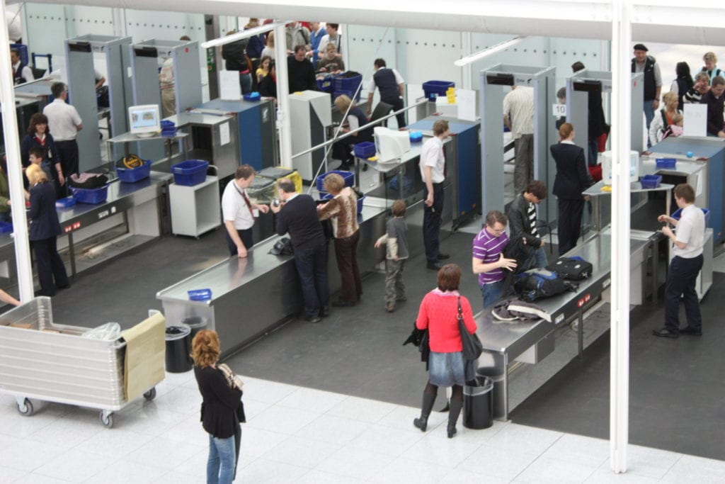 Remember the airport security personnel are people too
