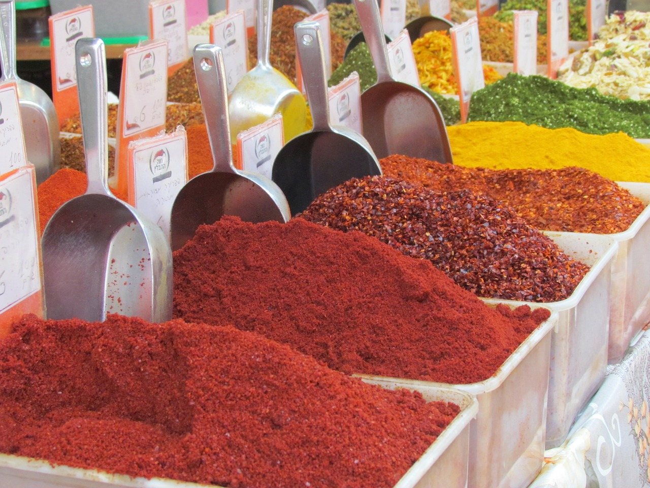 Spices at the market in Jerusalem.