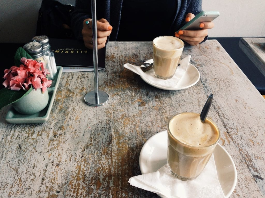 How do you have a successful coffee date with young kids in tow?