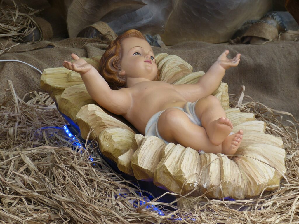 Baby Jesus and nativity scenes are part of Christmas around the world