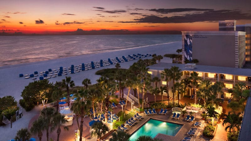 the gorgeous setting of TradeWinds St. Pete is a real draw