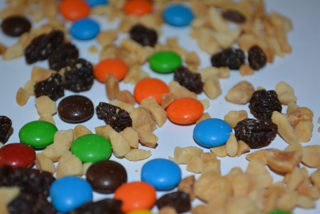 Healthy trail mix recipe should not include candy.