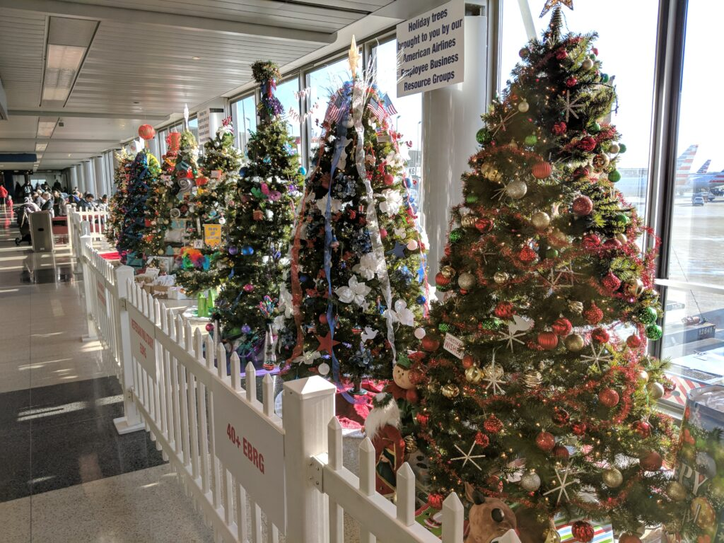 O'Hare International Airport dressed up for Christmas in 2018.