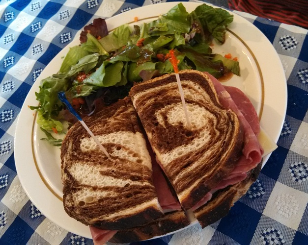 Sandwiches like this are on the menu at the Lock 16 Visitor Center cafe.