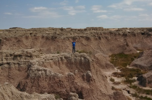 Teens found plenty to love climbing around Badlands National Park. Photo: Cindy Richards / Empty Nest TMOM