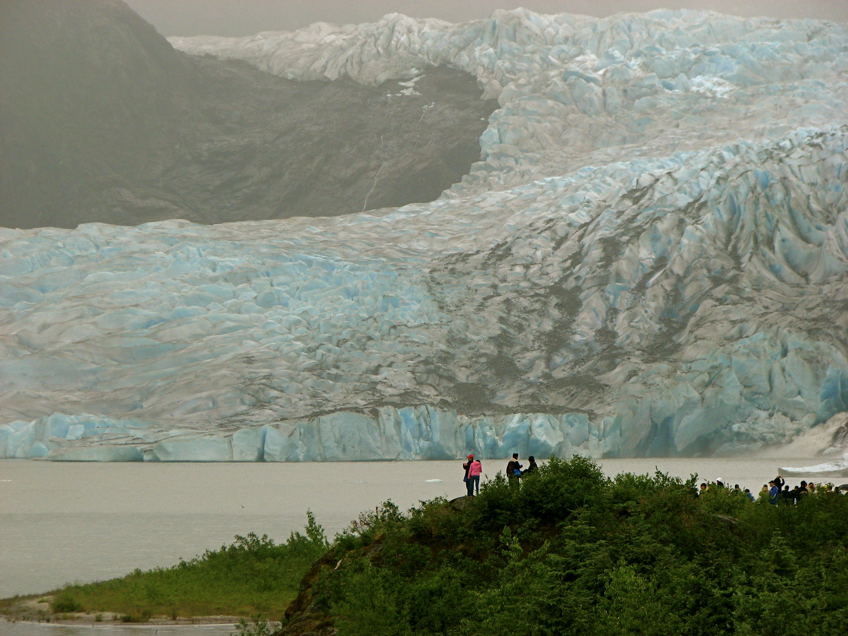 Mendenhal l Glacier in downtown Juneau
