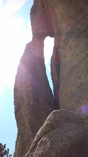 "This ""Needles Eye"" formation is the crowning glory of Needle Highway in Custer State Park."