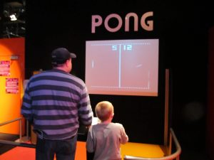 A giant Pong game is among the 150 video games in Game On 2.0 exhibit at Toronto's Ontario Science Centre