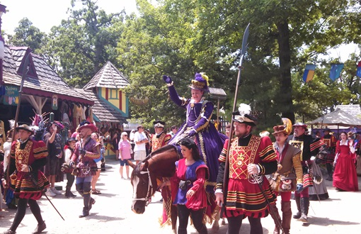A visit from the Queen is the reason for this party at the Bristol Renaissance Faire.