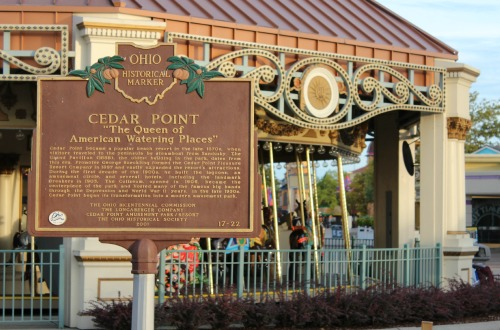 Historical Marker at Cedar Point Amusement Park