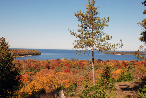 Peninsula State Park Fall Scenic Overlook