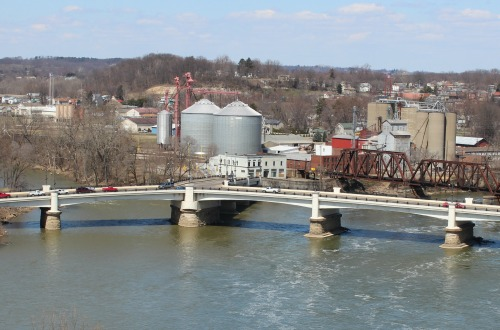 The Y Bridge in Zanesville, Ohio