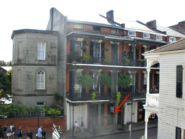 the Cornstalk Hotel in New Orleans' French Quarter