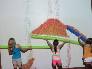 Girls play in the Myseum kids science museum in suburban St. Louis