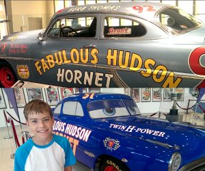 hudson horrnet at the NASCAR hall of fame
