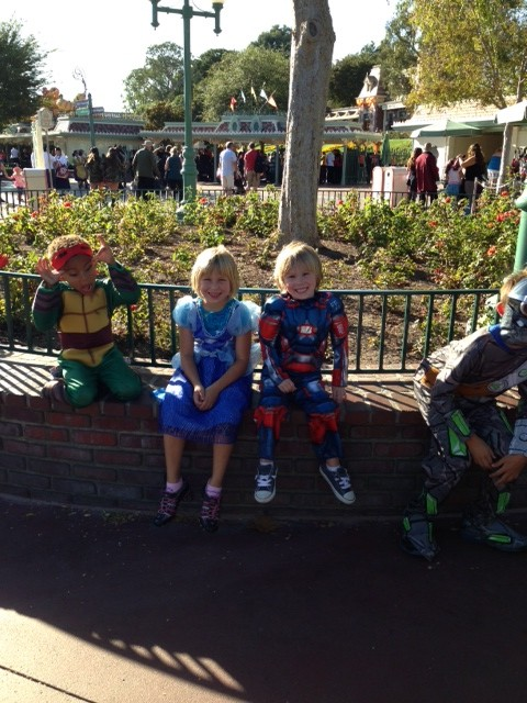 Ready to trick-or-treat at Disneyland