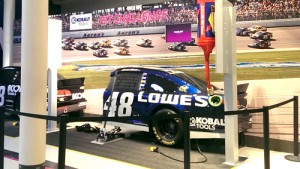 pit crew simulator at nascar hall of fame