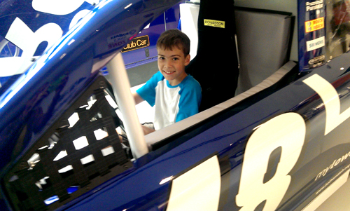 racing simulator at NASCAR hall of fame