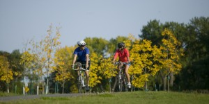 Biking the Greenway in Grand Forks photo credit: ND Tourism