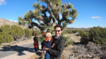 Hiking with babies at Joshua Tree National Park.