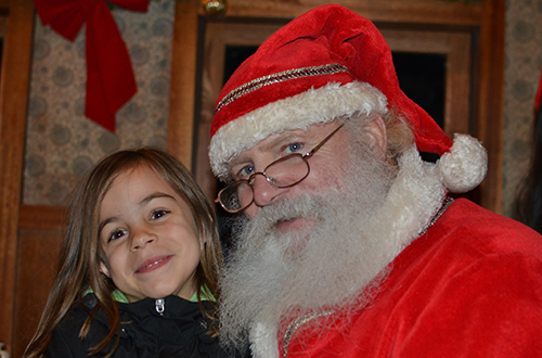 With Santa onboard the Polar Express