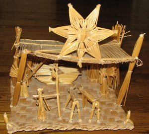 Straw nativity from Guatemala