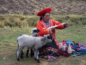 Meeting mothers is part of faith travel in Peru. Photo by Christine Tibbetts
