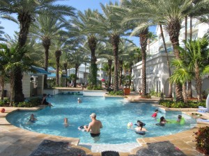 A big pool, with a bar, and other amenities are available at hotels, like the Westin Grand Cayman.