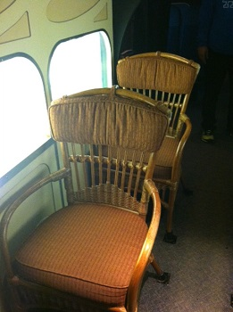 Vintage Airplane Seats (Photo credit: Judy Antell / Vegetarian TravelingMom)