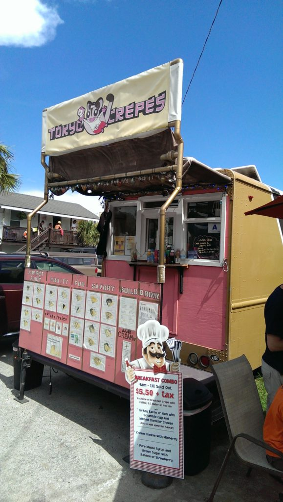 tokyo crepe food truck folly beach, south carolina