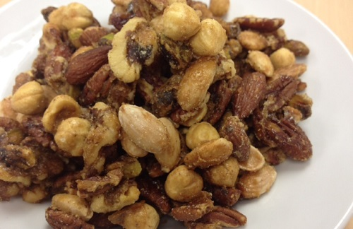 Sweet and Spicy Nuts Recipe