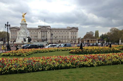 Visiting Buckingham Palace in London