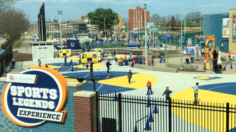 Children's Museum of Indianapolis - outdoor view of the Sports Legends Experience area