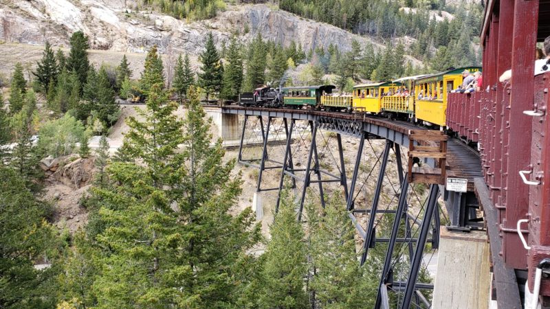 All aboard the Georgetown Loop Railroad, located less than one hour from Denver.