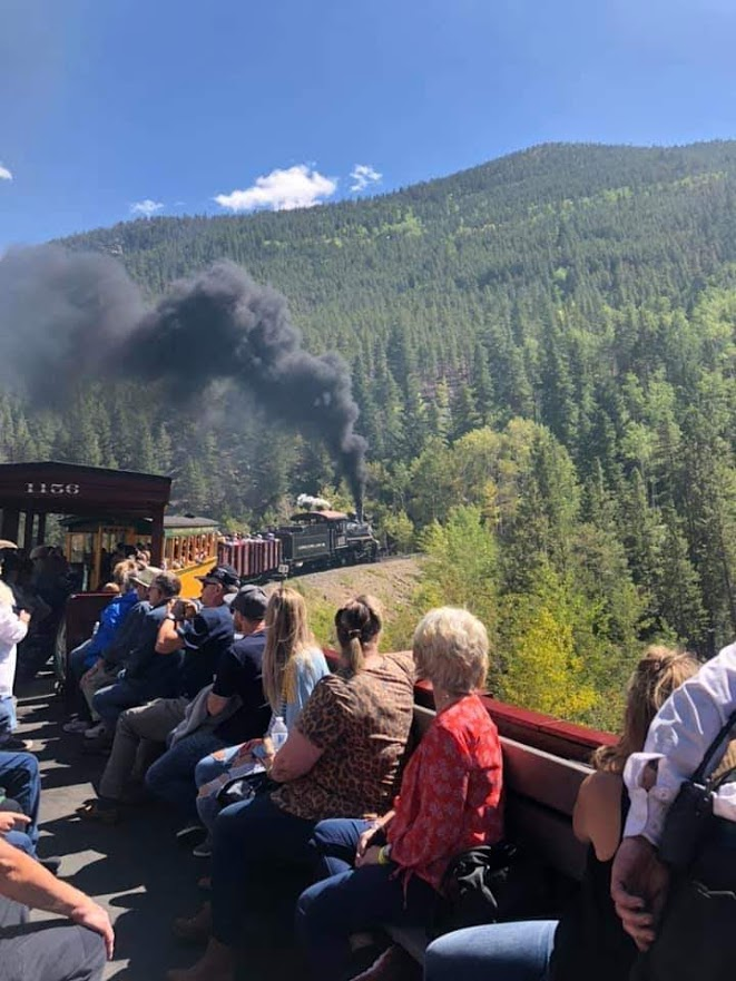 Riding the Georgetown Loop Railroad boxcars offers some of the best views of the Colorado Rockies