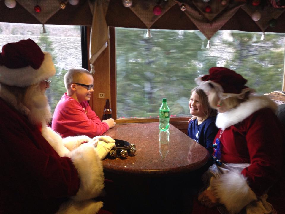 Meet Santa and Mrs. Claus on the Georgetown Loop Railroad during Santa's North Pole Adventure.