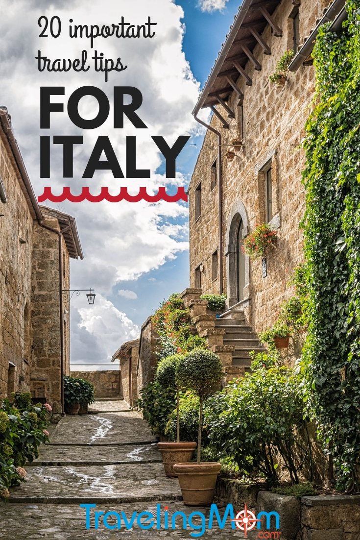 20 tips for your first visit to #Italy. Learn how to save on currency exchange fees, protect yourself from pick pockets and more. #familytravel #international