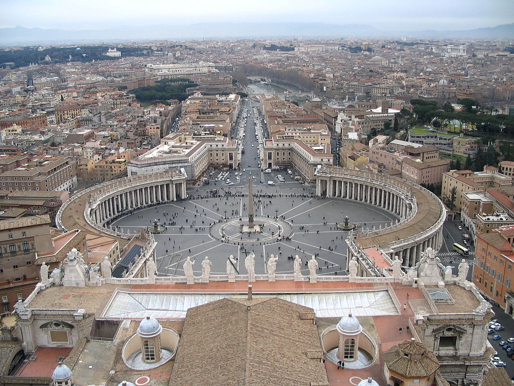 Visit St. Peter's Square at the Vatican in Rome on an Italy trip.