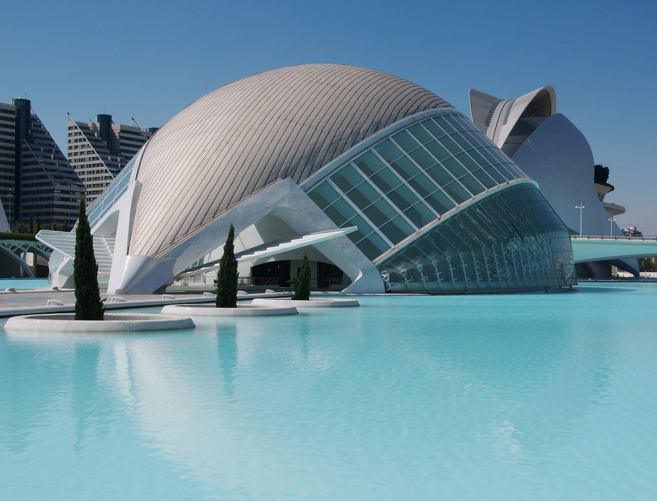 Valenica's beautiful City of Arts and Science makes it a city worth visiting on a family vacation in Europe.