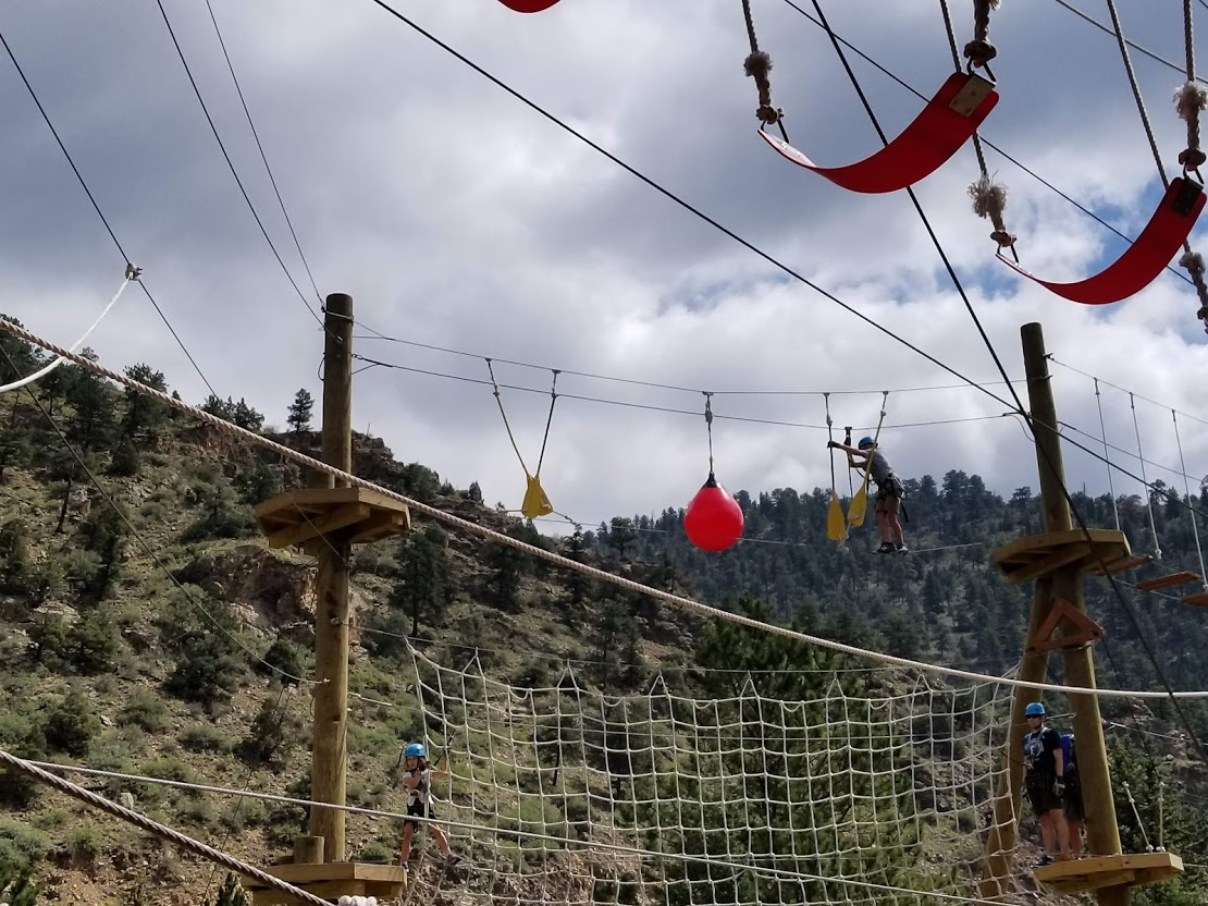 The Ropes course at Colorado Adventure Center in Idaho Springs is the perfect opportunity to challenge your family.
