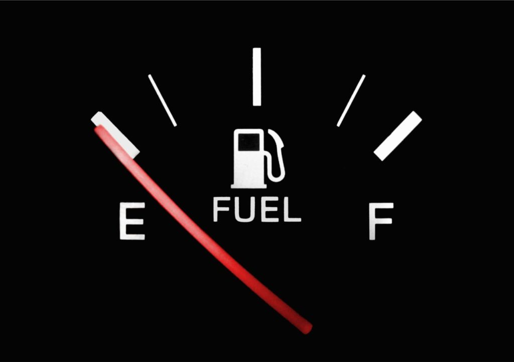 Running out of gas is an easily avoided road trip danger.