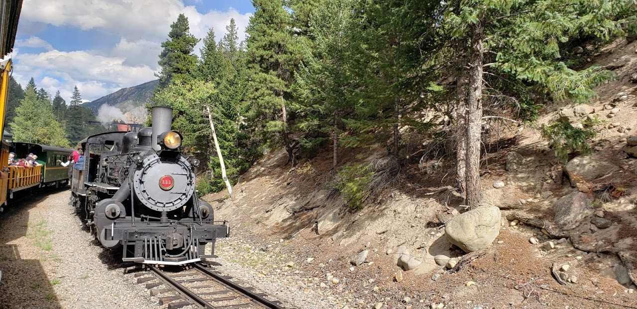 All aboard the Georgetown Loop Railroad, located just 45 minutes west of Denver, Colorado.