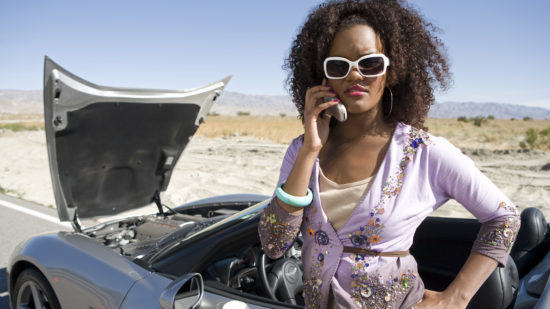Road trip dangers -- your car breaks down and you have no cell service.