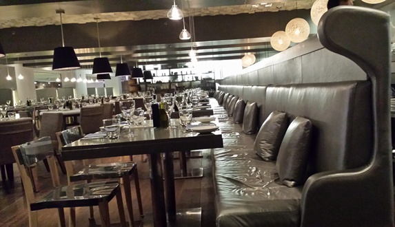 The Filini Restaurant at Radisson Blu serves kid fare, but its sleek and sexy ambiance cries out for a kid-free evening. Photo courtesy of Cindy Richards