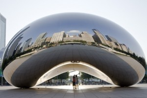 The Bean at Millennium Park is an iconic Chicago site--and a great spot for a family photo. Photo credit: City of Chicago