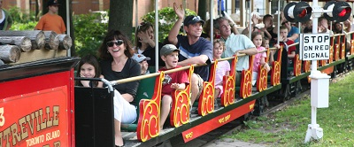 The train is one of the most popular rides at Centreville. Photo credit: Centreville Amusement Park