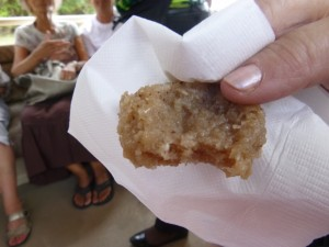 Photo by Jamie Bartosch/Suburban TravelingMom A sugar cane cookie is a complimentary treat served on the St. Kitts Railway.